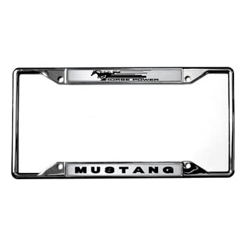 Amazon.com: H.P. / Mustang License Plate Frame: Automotive