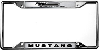 hp mustang license plate frame - Mustang License Plate Frame