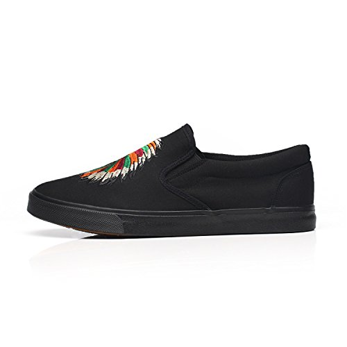 HUAN Formal Canvas Espadrilles Shoes A Casual Deck Shoes Business Mens Shoes Work Flat Loafers UYUqAra
