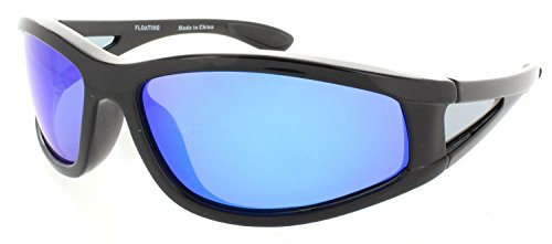 Fiore Polarized Floating Sunglasses for Fishing, Boating and Water Activities (Black-Blue - Polarized Floating Sunglasses