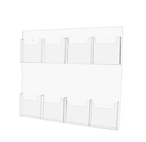 Marketing Holders Wall-Mount Tri Fold Pocket Pamphlet Flyer Holder Brochure Display (2, 8 Pocket)