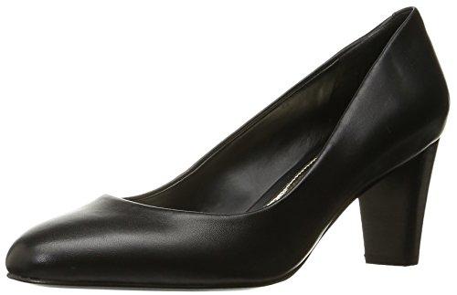 Lauren Ralph Lauren Women's Hala Dress Pump, Black Signature Burnished Calf, 7 B US