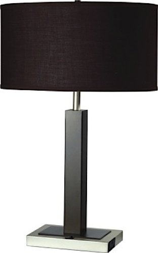 ORE International, Inc 8321ES-1 Metal Table Lamp with Convenient Outlet, 11