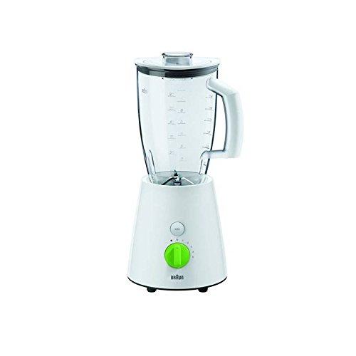 Braun JB 3010 - Licuadora (De plá stico, Acero inoxidable, Verde, Color blanco) JB3010 0X22311002_WH