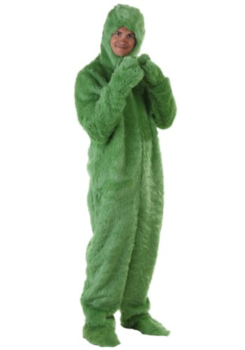 Adult Green Furry Jumpsuit Standard