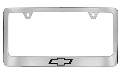 Amazon.com: Chevrolet Logo Chrome Plated Metal License Plate Frame ...