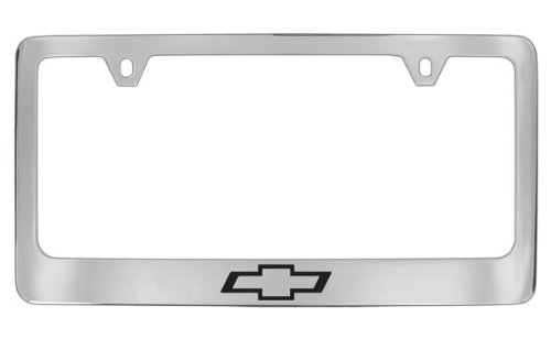 Chevrolet Logo Chrome Plated Metal License Plate Frame Holder