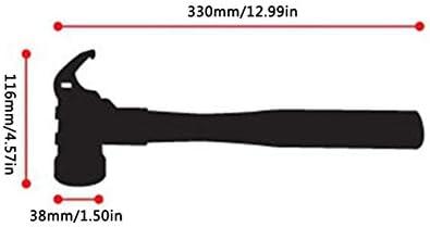 屋外のステンレス鋼のハンマー銅ヘッド多目的テントキャノピーネイルハンマーネイルプーラーキャンプ鍬-シルバー&ウッド