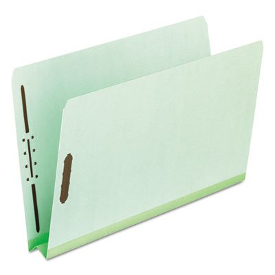 Pressboard Folders, 2 Fasteners, 2'' Expansion, Full Cut, Letter, Green, 25/Box