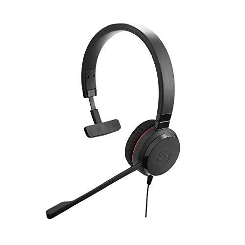🥇 Jabra Evolve 20 SE – Auriculares externos Mono con cancelación de Ruido