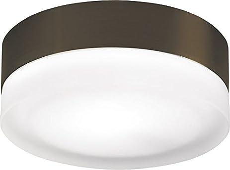 tech lighting 700fm360sz 360 1 light bronze round flush mount