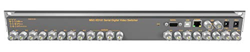 16 Input 1 Output 3G-SDI Video Router with Button Panel