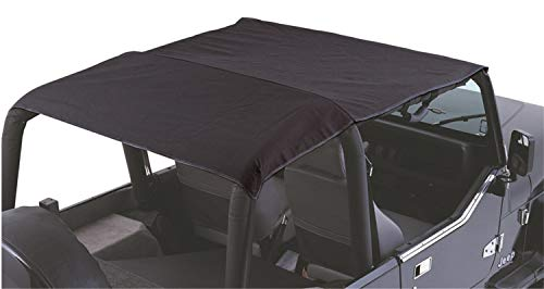 RAMPAGE PRODUCTS 94215R Combo Brief Extended Topper with Zip Out Rear Section for 1997-2006 Jeep TJ, Black Denim