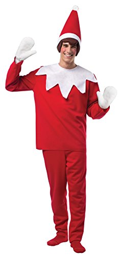UHC Men's Elf On A Shelf Gnome Magical Theme Party Adult Halloween Costume, OS (Gnome Halloween Costume)