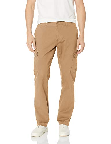 - Amazon Essentials Men's Slim-fit Stretch Cargo Pant, Dark Khaki, 30W x 32L