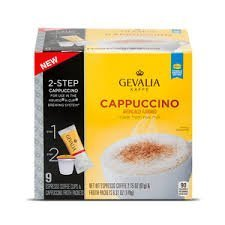 Gevalia 2-step 9 -Espresso Coffee Cups and Froth Packets, Cappuccino (Pack of 2) by Gevalia