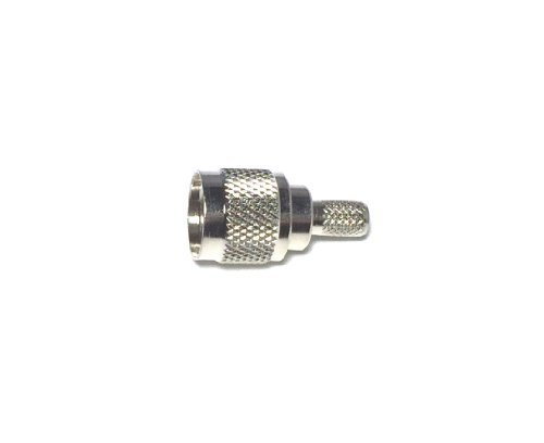 Pack of 5 Mini-UHF Male Plug Crimp Coax RF Connector for RG-58, 141, LMR195 Cable