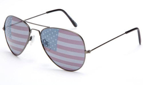 Kyra World Cup 2014 United States Flag Patriotic Olympic Soccer Aviator Style Sunglasses in - Sunglass 2014 Style