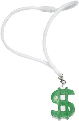 WeGlow International Jumbo Drop Necklace with Dollar Sign (2 pieces) (Necklace Dollar Sign Jumbo)