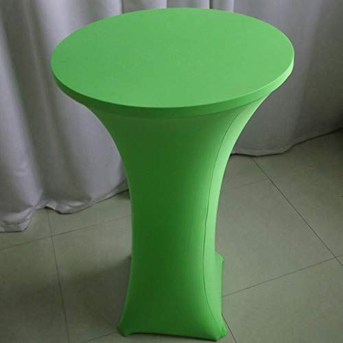 BROSCO Spandex Cover 4 Leg 60cm Poseur Bistro Cocktail Table Decoration Fruit Green