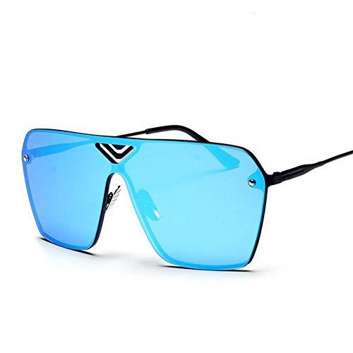 NIFG de una sin la sol de sol gafas gafas las Gafas de sol manera fronteras unisex de de rwF7rCq6