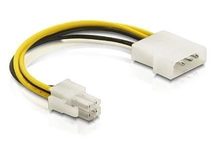 DELOCK Adapter P4 Kabel 4St Molex/4St P4 15cm 82391: Amazon.de ...