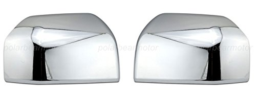 EZ Motoring Chrome ABS Upper Top Half Mirror Cover Overlays for 15-18 Ford F150