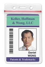Heavy Duty Vinyl Vertical Badge Holder with Resealable Top Sold Individually