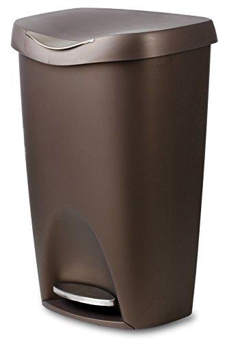 Umbra Brink Step Waste Can, 13-Gallon, Bronze