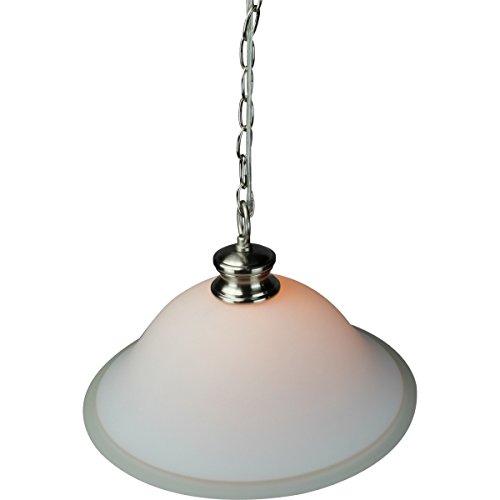 Glass Shade Swag Lamp Brushed Nickel