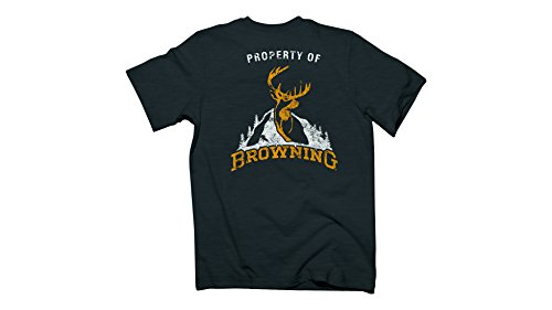 Browning A0002262 Men's Property Of Browning S/S Tee, Color 201 Tweed, Size L