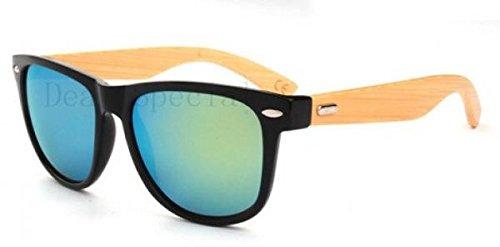 UV400 Protection Man Woman Handmade Bamboo Wood Leg Sunglasses Retro Vintage Wooden Sides