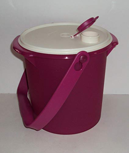 Tupperware 5 Quart Jumbo Canister with Pour All Seal and Handle Berry Purple