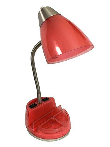 Retro Goose Neck Organizer Lamp with Phone & Tablet Docking
