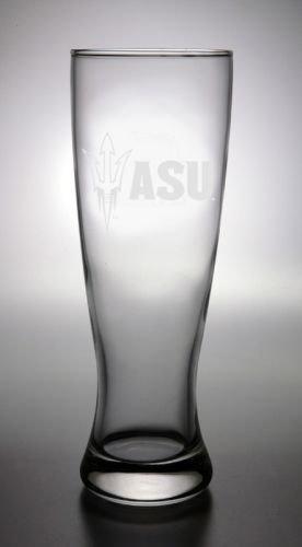 Glass Pilsner Goblet - CC Glass Arizona State Sun Devils Deep Etched Pilsner