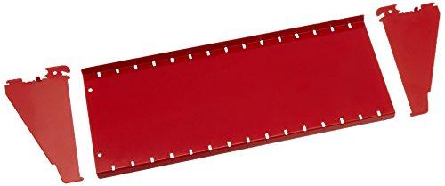 Wall Control Pegboard Shelf 6in Deep Pegboard Shelf Assembly for Wall Control Pegboard and Slotted Tool Board - Red