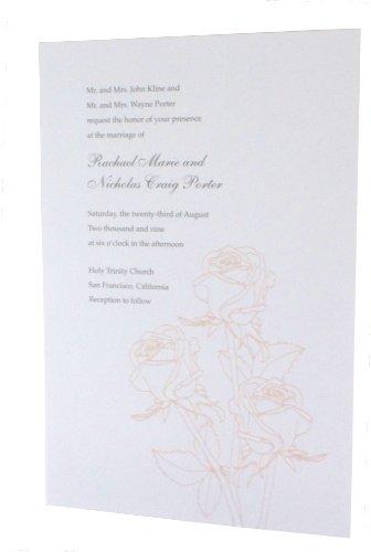 Rose Glitter Printable Invitation/Envelope 25-Pack: ()