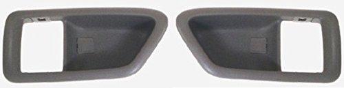 Charcoal Grey Bezel - DELPA CL4105 > LH & RH Door Handle Bezel Trim Cover Casing Grey Fits: 1997 Thru 2001 Toyota Camry or Lexus ES300 or 1999 Thru 2003 Toyota Solara