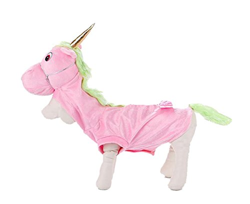 Cat Unicorn Costume (PetBoBo Pet Dog Cat Unicorn Halloween Party Fancy Tidy Costume for Dog Cat Jacket Apparel Unicorn S)