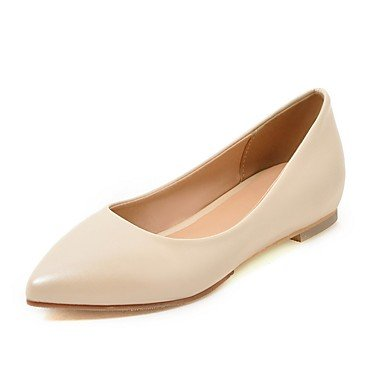 Cómodo y elegante soporte de zapatos de las mujeres pisos primavera verano Casual de piel sintética comodidad plana talón otros negro azul rosa rojo blanco Beige Walking rosa