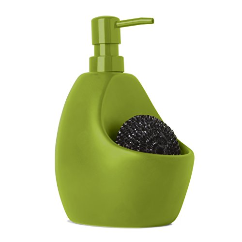 Umbra Joey Kitchen Soap Pump with Scrubby Holder, Mint