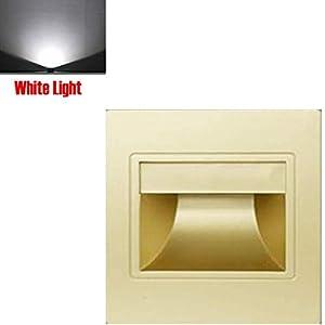Scala Angolo Decorazione LED Interno da Incasso Leggero Casa Muro Luce Vialetto - Champagne Oro, White Light 2 spesavip