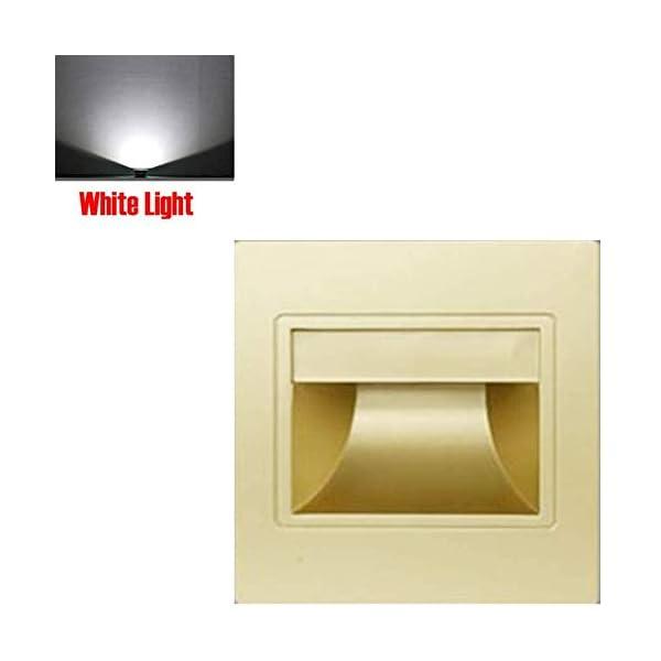 Scala Angolo Decorazione LED Interno da Incasso Leggero Casa Muro Luce Vialetto - Champagne Oro, White Light 1 spesavip