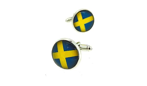 Gemelolandia | Gemelos para Camisa Bandera de Suecia Redonda ...