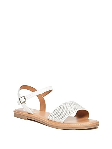 G by GUESS Diamond Rhinestone Ankle-Strap Sandals (Sandals Strap Ankle Guess)