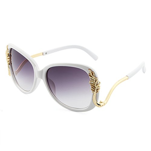 de de de oculos White Femmes Soleil Lunettes Lunettes Feminino Red Retro Sol Pink UV400 Metal Soleil en Polycarbonate XZP Frame Z7Swq