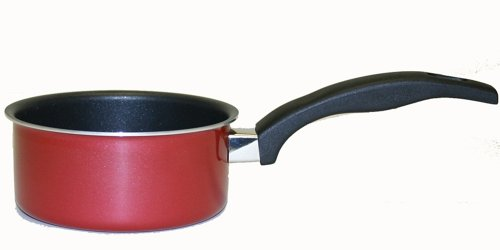Proctor Silex 52022 Aluminum Nonstick 1 Quart Open Sauce Pan, Red