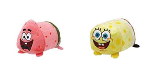 Ty Spongebob and Patrick Star Teeny Stackable Plush Set
