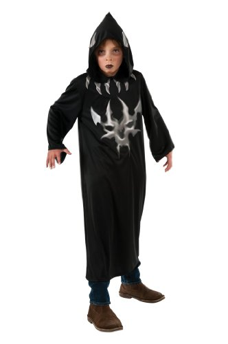 [Halloween Concepts Child's Black and Grey Devil Robe, Large] (Kids Halloween Devil Costumes)