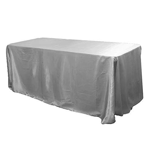COOCOl Great Stain Table Cloth Birthday Party Baby Shower Festival Table Cover Home DIY Decoration Tablecloth,Silver,228X335Cm